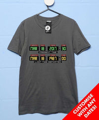 Customisable Dashboard T Shirt - Inspired by Back to the Future