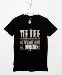 Call Me The Dude T Shirt - Inspired by The Big Lebowski