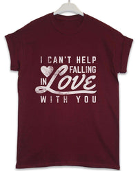 Falling in Love With You - Lyric Quote T Shirt