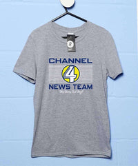 Channel 4 News Team T Shirt - Inspired By Anchorman
