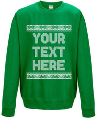 Customisable Knitted Style Christmas Sweatshirt