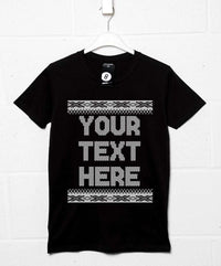 Customisable Knitted Style Christmas T Shirt
