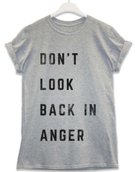 Dont Look Back in Anger - Lyric Quote T Shirt