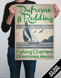 Dufresne & Redding Fishing Charters Poster