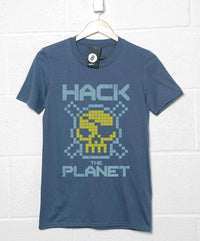 Inspired By Hackers T Shirt - Hack The Planet