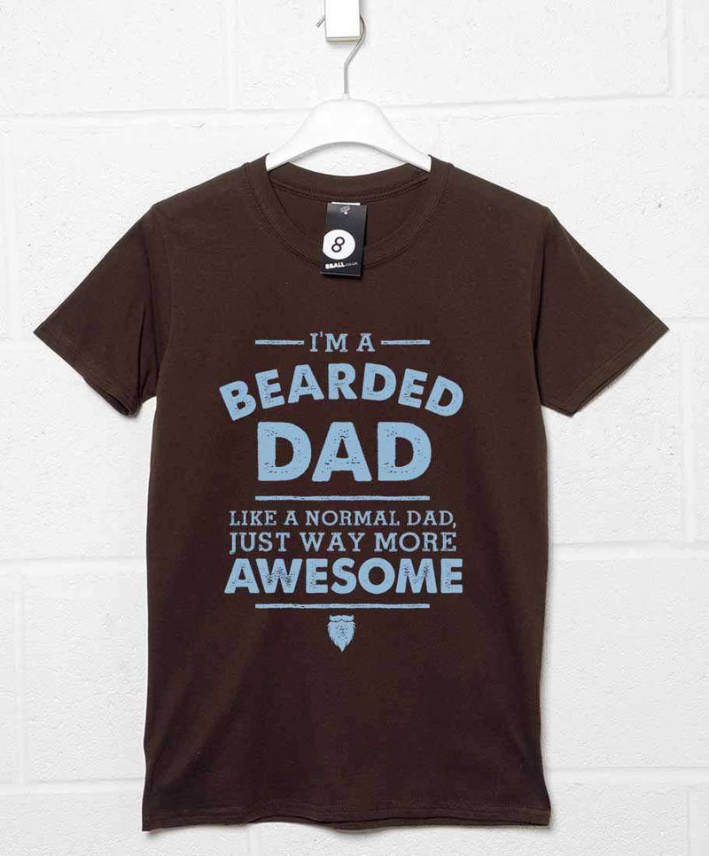 59d4e8f3 I'm A Bearded Dad T Shirt | 8Ball T Shirts