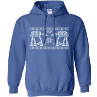Knitted Jumper Style Hoodie - Snow Walkers