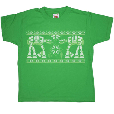 Knitted Jumper Style Kids T Shirt - Snow Walkers