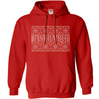 Knitted Jumper Style Hoodie - Bah Humbug