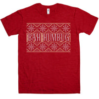 Knitted Jumper Style T Shirt - Bah Humbug
