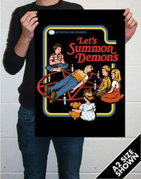 Let's Summon Demons Oversize Art Print