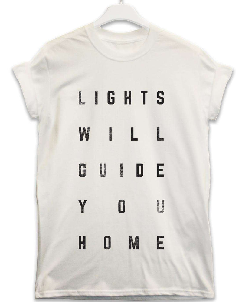 Lights Will Guide You Home - Lyric Quote T Shirt | 8Ball T Shirts