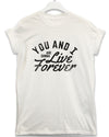 Live Forever - Lyric Quote T Shirt