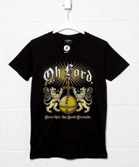 Lord Bless Thy Hand Grenade T Shirt - Inspired by The Holy Grail