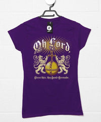 Lord Bless Thy Hand Grenade Womens T Shirt - Inspired by The Holy Grail