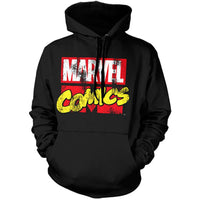 Marvel Comics Mens Hoody - Classic Distressed Marvel Logo