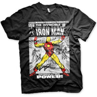 Marvel Comics Mens T Shirt - Iron Man Breaking Free