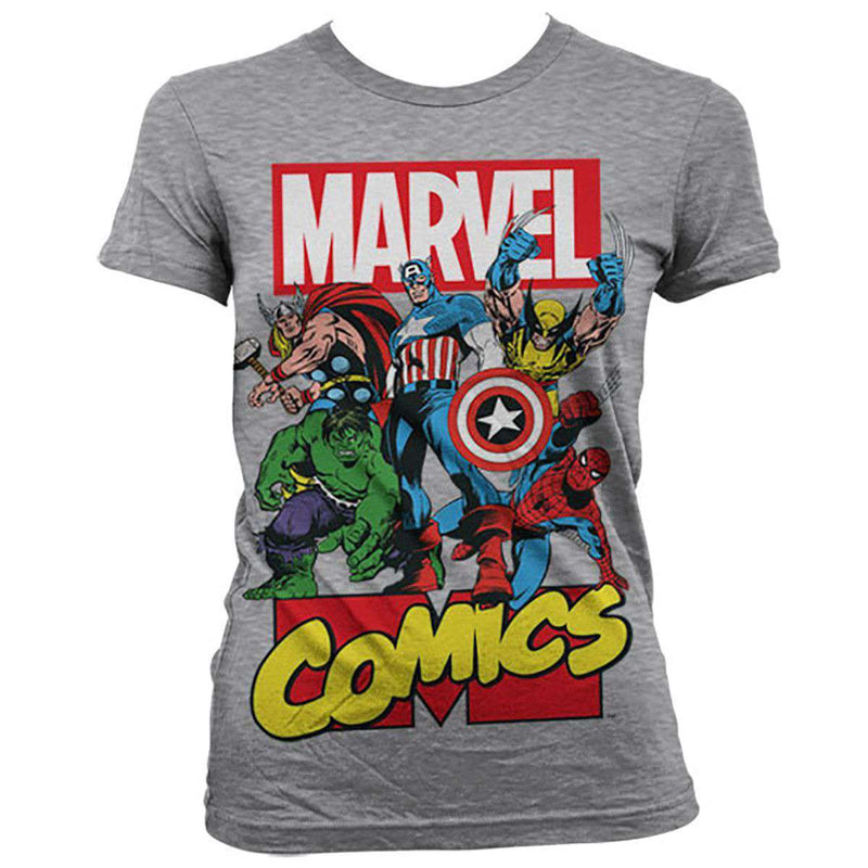 Buy New Marvel Comics T-Shirts at report2day.ml We have the largest selection of Marvel tees anywhere, including Spiderman, Wolverine, Iron Man, Incredible Hulk, Punisher, Fantastic 4 and all your favorite Marvel superheroes!