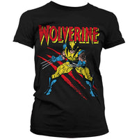 Marvel Comics Womens T Shirt - Wolverine Adamantium Slash