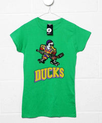 Inspired By The Mighty Ducks Womens T Shirt - Mighty Ducks Logo