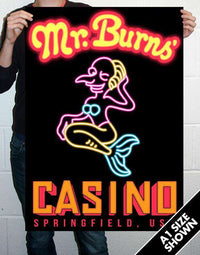 Mr Burns Casino Poster