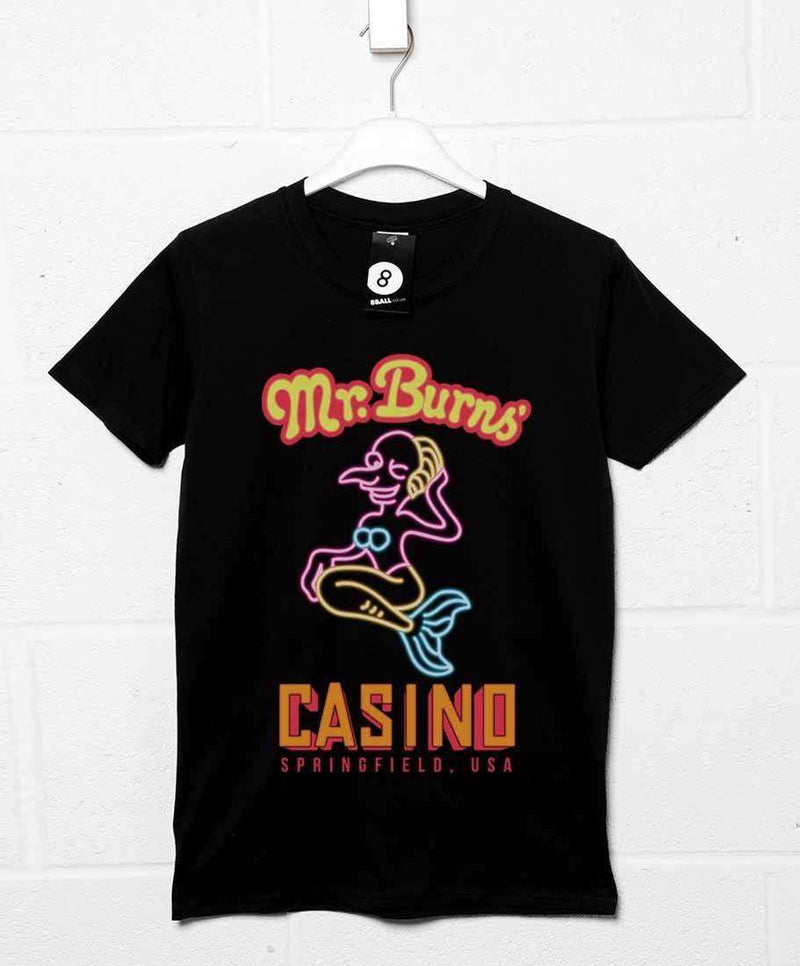 2c7339493b Mr Burns Casino - Inspired by The Simpsons T Shirt | 8ball.co.uk - 8Ball