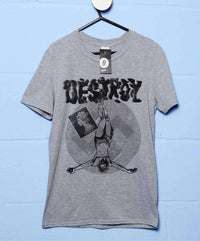 Inspired By The Sex Pistols - Punk Destroy BnW T Shirt