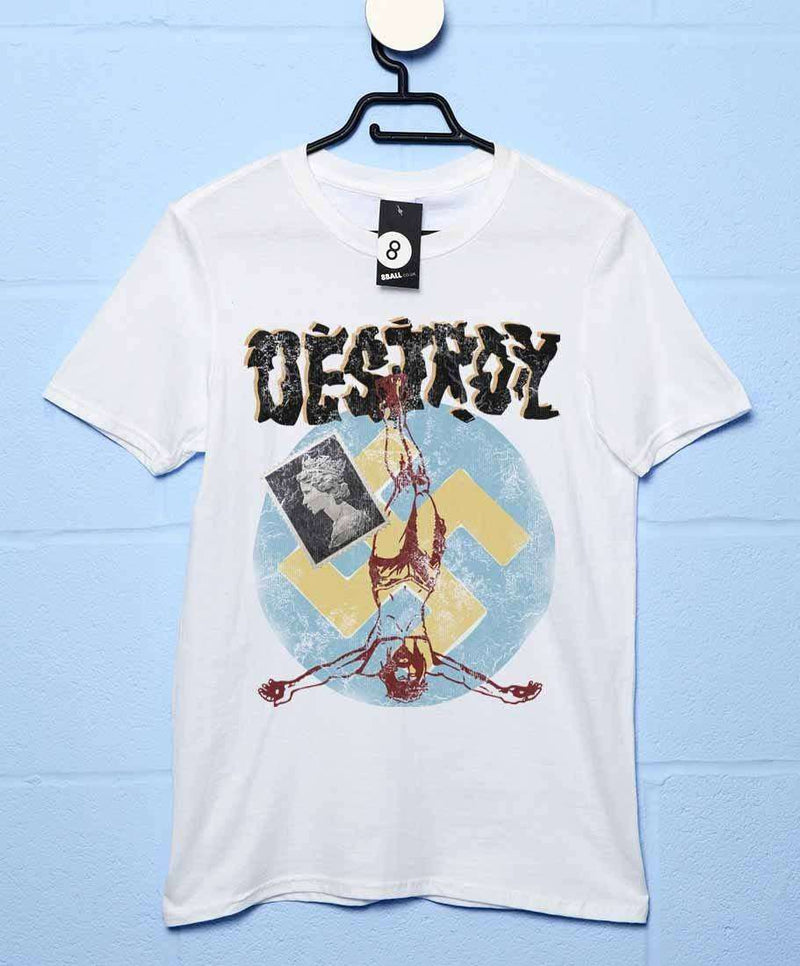15cf1fc844f Inspired By The Sex Pistols - Punk Destroy Colour T Shirt