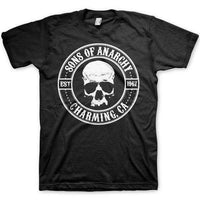 Sons Of Anarchy Men's T Shirt - Circle Skull