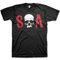 Sons Of Anarchy Men's T Shirt - Skull Initials