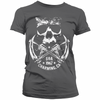 Sons Of Anarchy Womens T Shirt - Skull And Rifles