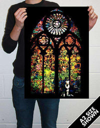 Stained Glass Banksy Poster
