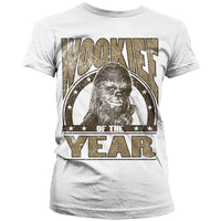 Star Wars Womens T Shirt - Chewbacca Wookie Of The Year