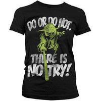 Star Wars Women's T Shirt - No Try Yoda
