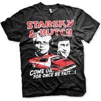 Starsky And Hutch Mens T Shirt - For Once Be Fast