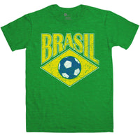 Football T Shirt - Retro Brasil Football
