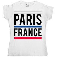 As Worn By Gwen Stefani Womens T Shirt - Paris France - 8Ball