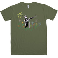 Banksy T Shirt - Machine Gun Kid