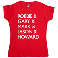 Take That Inspired Womens T Shirt - 5 Names