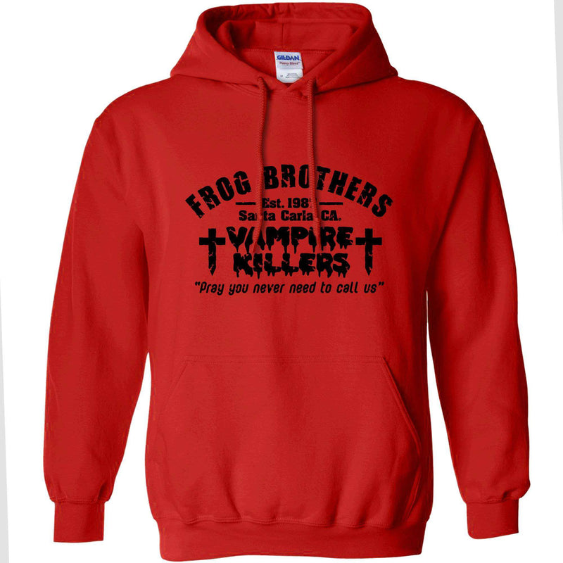 Frog Brothers Vampire Killers Hoodie. Black or Red. S to 2XL