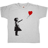 Banksy Kids T Shirt - Girl With Balloon