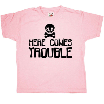 Funny Kids T Shirt - Here Comes Trouble