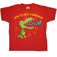 How To Spot A Dinosaur Kids T Shirt