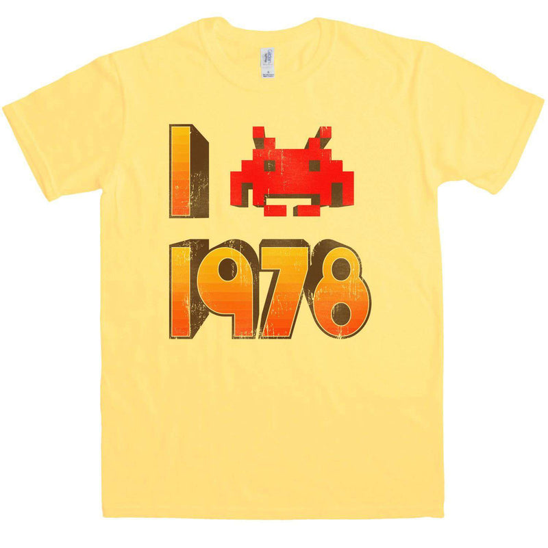 I Love 1978 Space Invader T-shirt for Men. S to 2XL