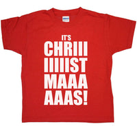 Kids Funny Christmas T Shirt - Its Chriiistmaaas
