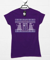 Knitted Jumper Style Women's T Shirt - Dr Who