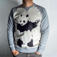 Mens 8Ball Black Tag Premium Sweatshirt - Banksy Panda