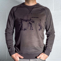 Mens 8Ball Black Tag Premium Vintage Sweatshirt - Banksy I Am Your Father