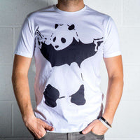 Mens 8Ball Black Tag Premium T Shirt - Banksy Panda