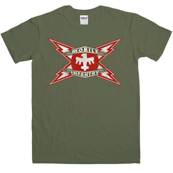 2522a208adcac Inspired By Starship Troopers - Mobile Infantry T Shirt